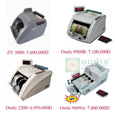Một số sản phẩm máy đếm tiền tại quận Cầu Giấy ngân hàng hay dùng