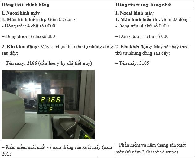 phân biệt thật giả xinda 2166L