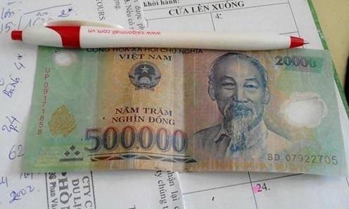 tiền cắt dán 2 mặt
